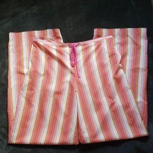 Victorias Secret pj pants size medium pink orange